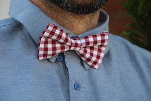 Red Checkers Bow Tie Bow Tie Uppermoda