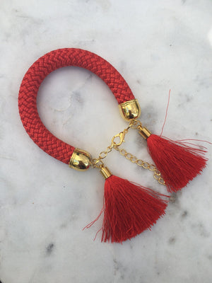 Red Rope Tassel Bracelets bracelet Uppermoda red