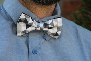 Shades of Grey Bow Tie - LAST ONE AVAILABLE Bow Tie Uppermoda