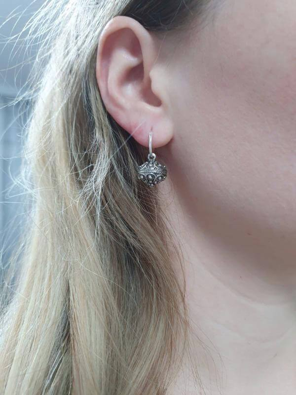 Šibenik Botun Earrings - Sterling Silver Mini Hoops earrings Uppermoda