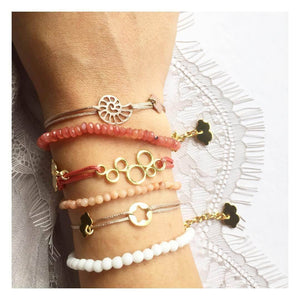 Silk Thread Gold Starfish Bracelet bracelet Uppermoda