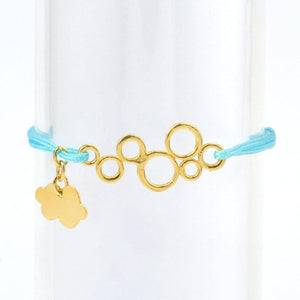 Silk Thread Gold Waves Bracelet bracelet Uppermoda lightskyblue