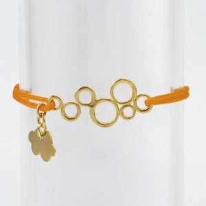 Silk Thread Gold Waves Bracelet bracelet Uppermoda orange