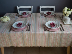 Tablecloths - Croatian Pastel Folklore in Various Sizes (PRE-ORDER) Tablecloths Uppermoda