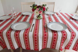 Various Sizes - Heart Skips a Beat Croatian Tablecloth (PRE-ORDER) Tablecloths Uppermoda