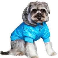 Thermo Blue Quilted Dog Parka