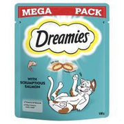 Dreamies Cat Treats with Scrumptious Salmon Mega Pack