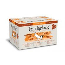 Forthglade Complete Meal Brown Rice - Adult Multicase 12 Pack (Lamb, Turkey, Chicken), 395g