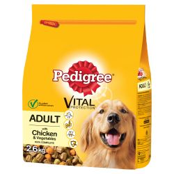 Pedigree Complete Adult Chicken & Veg Dog Food 2.6kg