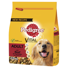 Pedigree Complete Adult Beef & Veg Dog Food 2.6kg