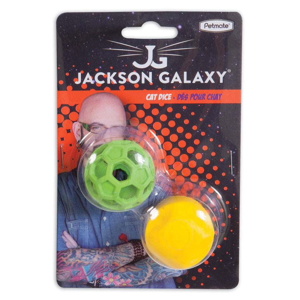 Petmate Jackson Galaxy Cat Dice Hol-ee Roller Treat Ball