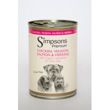 Simpsons Chicken Herring Salmon Dog Food 6 x 400g