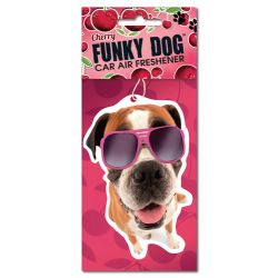 Funky Dog Air Freshener Cherry
