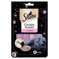 Sheba Creamy Snacks Treat Salmon Cat Food 4PK