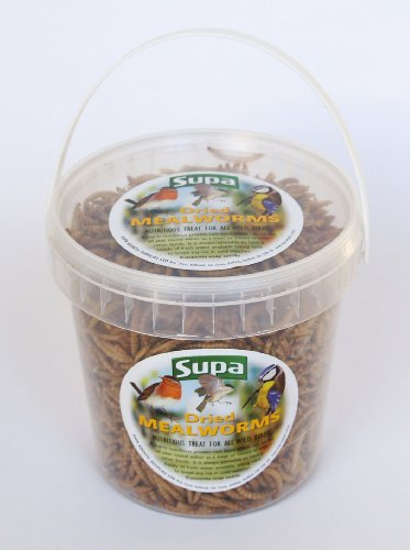 Supa Bird Food Dried Mealworms 1 Ltr