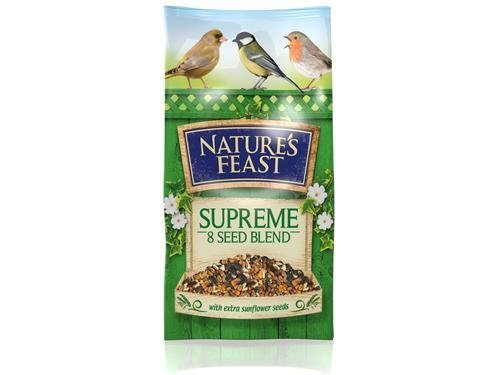 Nature Feast NF 8 Seed Supreme Blend 1kg Wild Bird Food