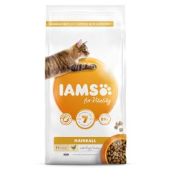 IAMS for Vitality Hairball Cat Food with Fresh Chicken 2kg
