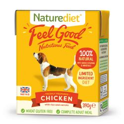 Naturediet Feel Good Chicken 18 x 390g Dog Food