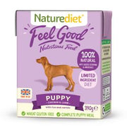 Naturediet Feel Good Puppy Chicken & Lamb 18 x 390g Dog Food