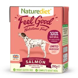 Naturediet Feel Good Salmon 18 x 390g Dog Food