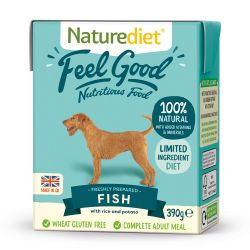 Naturediet Feel Good Fish 18 x 390g Dog Food