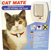 Glass Fitting Electromagnetic Catmate Door White
