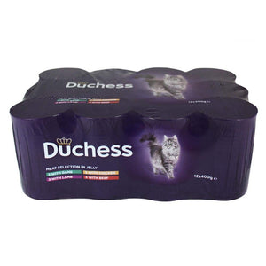 Duchess Can Meat Selection Chunks In Jelly Cat Food 12 x 400g