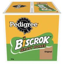 Pedigree Biscrok Gravy Bones Biscuits Dog Treats 10kg