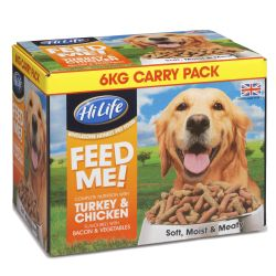 HiLife FEED ME! Dog Food With Turkey & Chicken Flavoured With Bacon & Veg 6kg