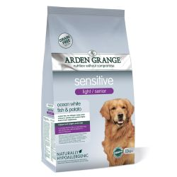 Arden Grange Light / Senior Sensitive 12kg Fish & Potato Dog Food