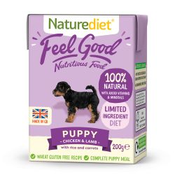 Naturediet Feel Good Puppy Chicken & Lamb 8 x 200g Dog Food