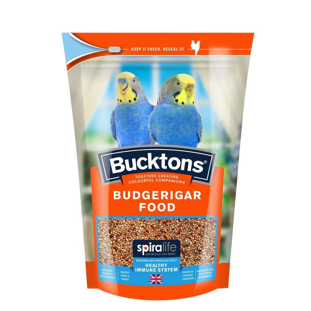 Bucktons Budgie Food with Spiralife 500