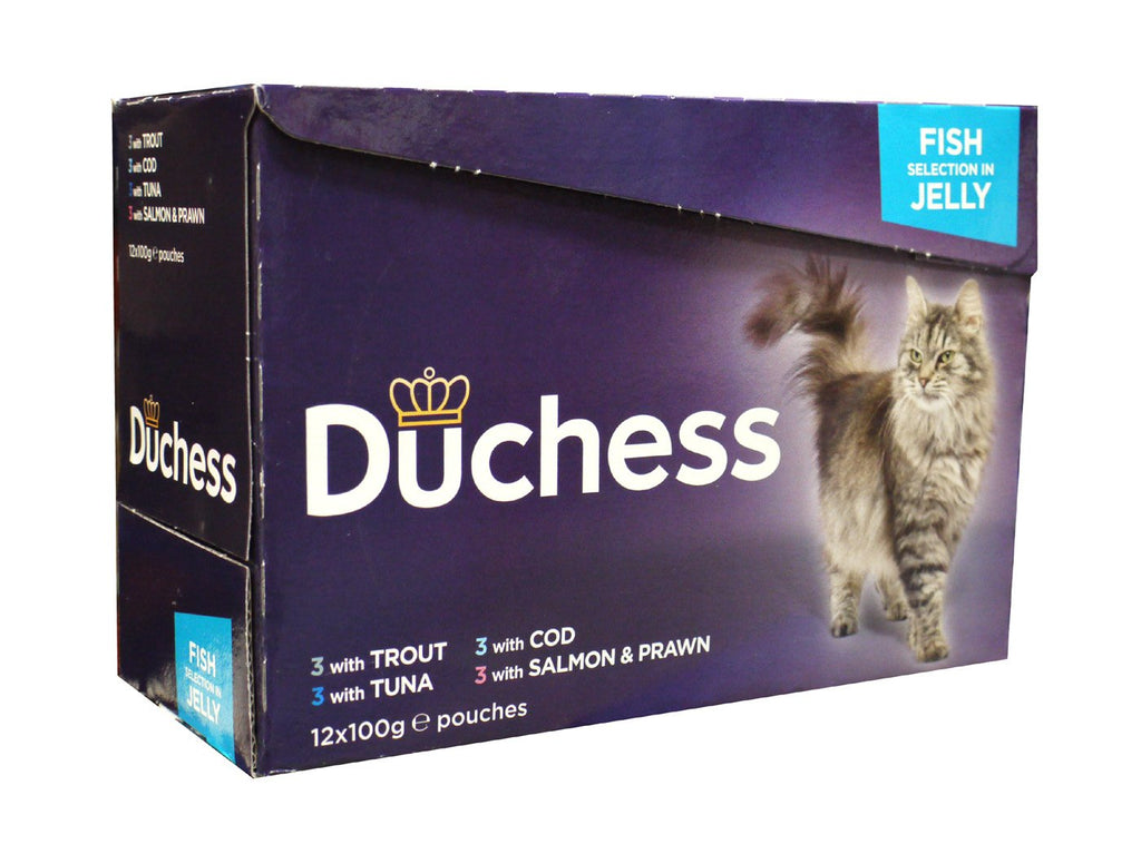 Duchess Cat Pouch Fish Selection In Jelly 12x100g