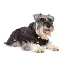Ancol Diamond Quilt Dog Coat in Black