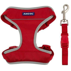 Ancol Padded Safety Car Dog Harness Red