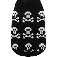 Black Skull Dog Jumper Sweater