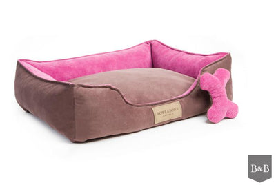 Bowl & Bone Luxury Dog Bed Classic Pink
