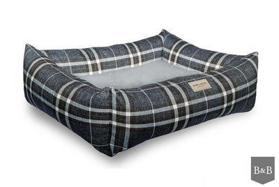 Bowl & Bone Luxury Dog Bed Scott Blue