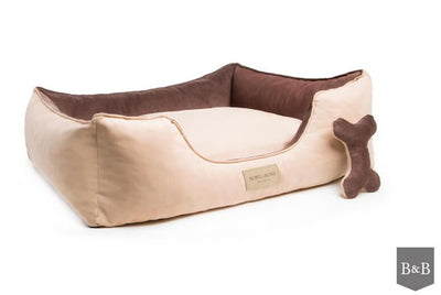 Bowl & Bone Luxury Dog Bed Classic Brown