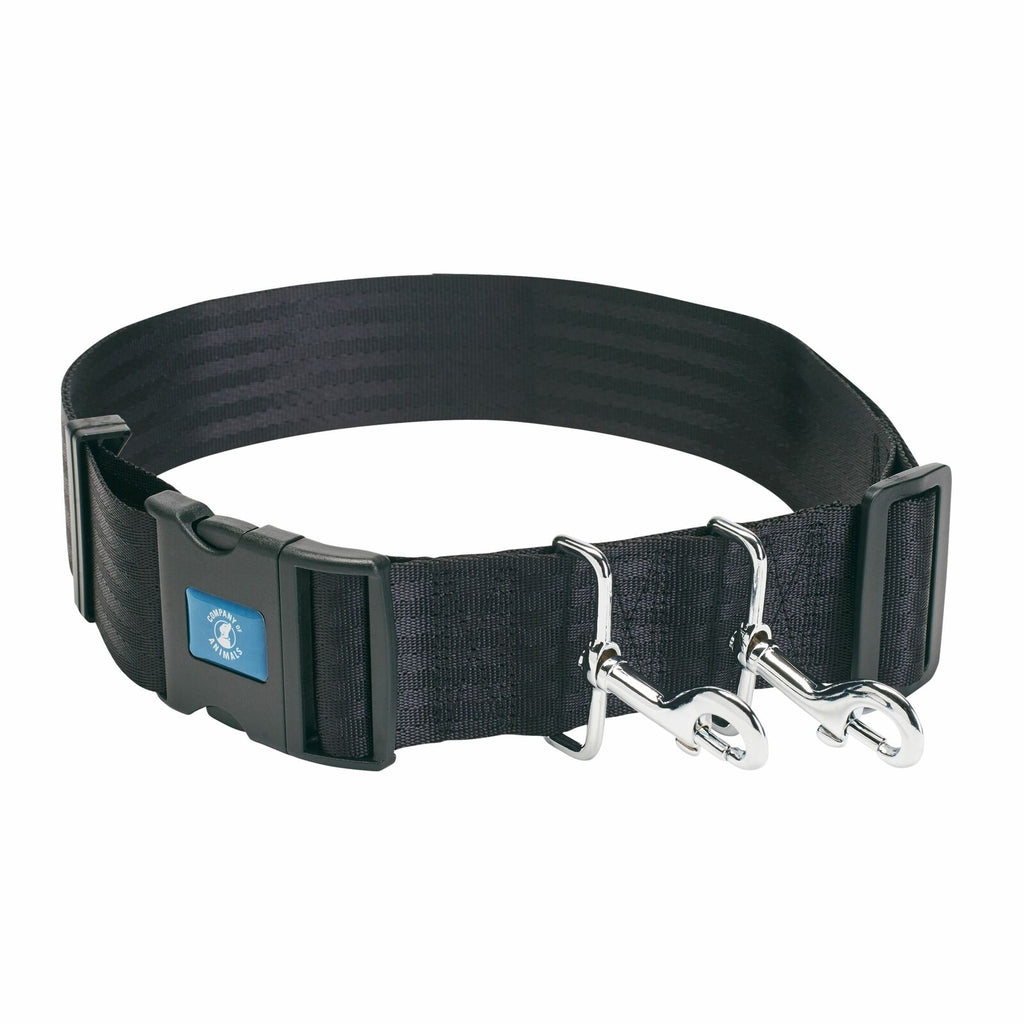 COA Hands Free Dog Puppy Handling Training Walking Lead Waist Belt With Clips
