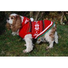 Hooded Snowflake Dog Jumper