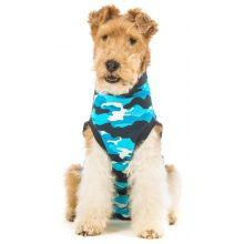 Suitical Dog Recovery Suit Blue Camouflage