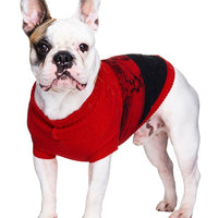 Donegal Red & Black Ribbed Dog Jumper Sweater