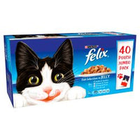 Felix Pouch Fish Selection in Jelly 40 Pack 100g