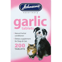 Johnsons Garlic Tablets x 200 for Dogs and Cats