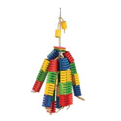 Happy Pet Groovy Colour Blocks Large Parrot Toy