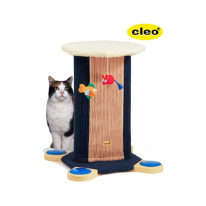 Kansas Cat Tower - Blue/Fawn