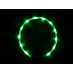 Animate Dog LED Flashing Loop Collar Band Green