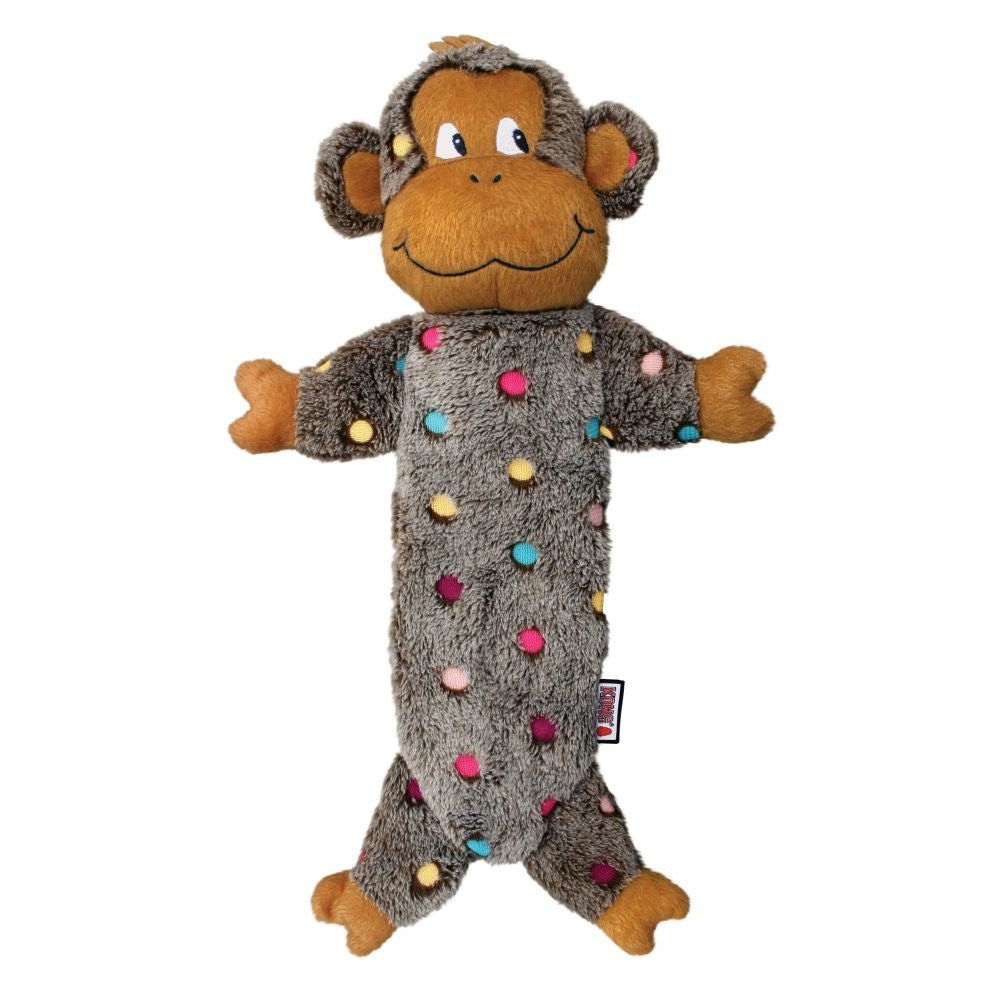 KONG Low Stuff Speckles Monkey Dog Toy