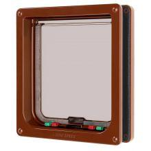 Pet Mate Large Cat Flap 4 Way Locking Brown